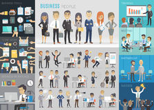 Business people set. Royalty Free Stock Images