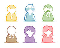 Business people set Stock Photography