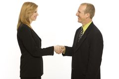 Business people shake hands. Two business people shake hands Stock Photo