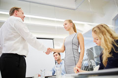 Business people shake hands Stock Photo