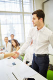 Business people shake hands and greeting each other Stock Photography