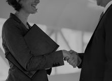 Business people shaking hand to each others Royalty Free Stock Photo