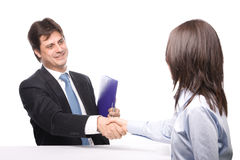 Business people shaking hands. Isolated Royalty Free Stock Photography