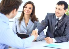 Business people shaking hands, Stock Photography