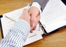 Business people shaking hands. Royalty Free Stock Photos