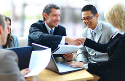 Business people shaking hands, Stock Image
