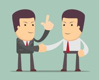 Business people shaking hands. Businessmen making a deal, successful business concept. Vector illustration Royalty Free Stock Images