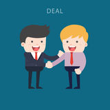 Business people shaking hands. Businessmen making a deal and think about profit.  illustration Royalty Free Stock Photo