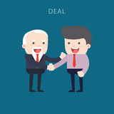 Business people shaking hands. Businessmen making a deal and think about profit. illustration royalty free illustration