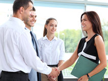 Business people shaking hands. Finishing up a meeting Stock Photos