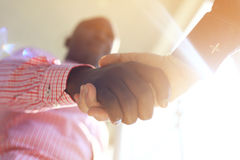 Business people shaking hands. Finishing up a meeting Royalty Free Stock Photography