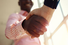 Business people shaking hands, finishing up meeting Royalty Free Stock Photography