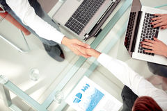 Business people shaking hands during a meeting Royalty Free Stock Images