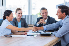 Business people shaking hands during meeting Royalty Free Stock Photo