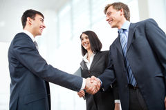 Business people shaking hands Stock Photo