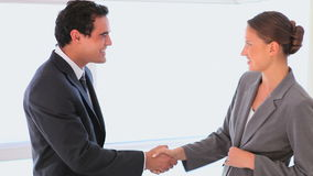 Business people shaking hands. After negotiation stock video footage