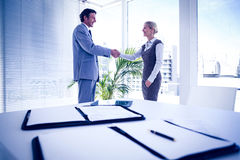 Business people shaking hands. In the office Stock Photography