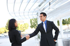 Business People Shaking Hands at Office Stock Photos