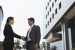 Business People Shaking Hands Outdoors Royalty Free Stock Photo