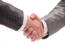 Business people shaking hands over a deal Royalty Free Stock Photo