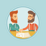 Business people shaking hands vector illustration. Royalty Free Stock Photos