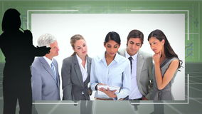 Business people shaking hands and working together Stock Photography