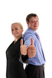 Business people show ok royalty free stock photos