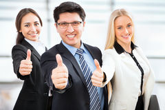 Business people show thumb up Royalty Free Stock Photography