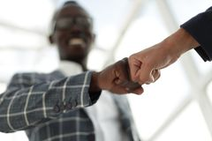 Free Business People Showing Fist Bump After Meeting Royalty Free Stock Photography - 122606777