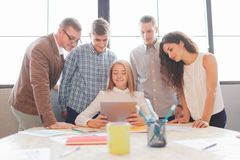 Business team having meeting in the office. Team work. Stock Image