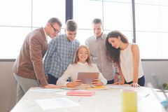 Business team having meeting in the office. Team work. Royalty Free Stock Image