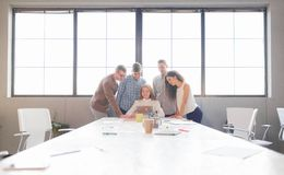 Business team having meeting in the office. Team work. Stock Photo