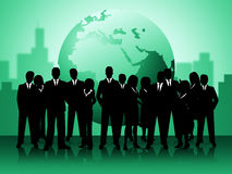 Business People Shows Professionals Planet And Worldly Royalty Free Stock Photos