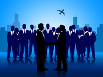 Business People Shows Team Work And Businessman Royalty Free Stock Photo