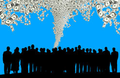 Business people silhouette Stock Image