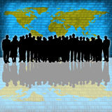 Business people silhouette Royalty Free Stock Photos