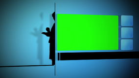 Business people silhouette with chroma key screen Stock Image