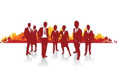 Business people cityscape Stock Photography