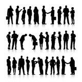 Business People Silhouette Connection Collaboration Concept Royalty Free Stock Photo