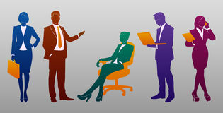Business People Silhouette Set Royalty Free Stock Photography