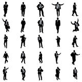Business people silhouette set Stock Photos