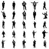 Business people silhouette set stock illustration