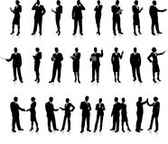 Business People Silhouette Super Set Stock Photography