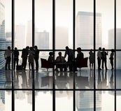 Business People Silhouette Team Communication Concept Stock Photos