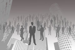 Business People Silhouette. Stock Photo