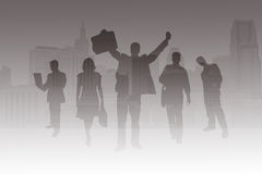 Business People Silhouette. Stock Photos