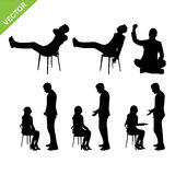 Business people silhouette vector Stock Photos