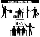 Business people silhouette vector Stock Photo