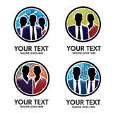 Business people silhouette vector logo Royalty Free Stock Image