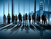 Business People Silhouette The Way Forward Vision Concept Royalty Free Stock Images